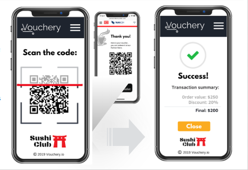 Vouchery QR code scanner Mobile app