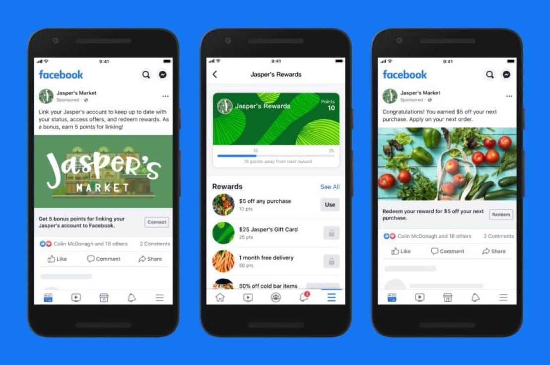 Google Shopping Actions Facebook Shops