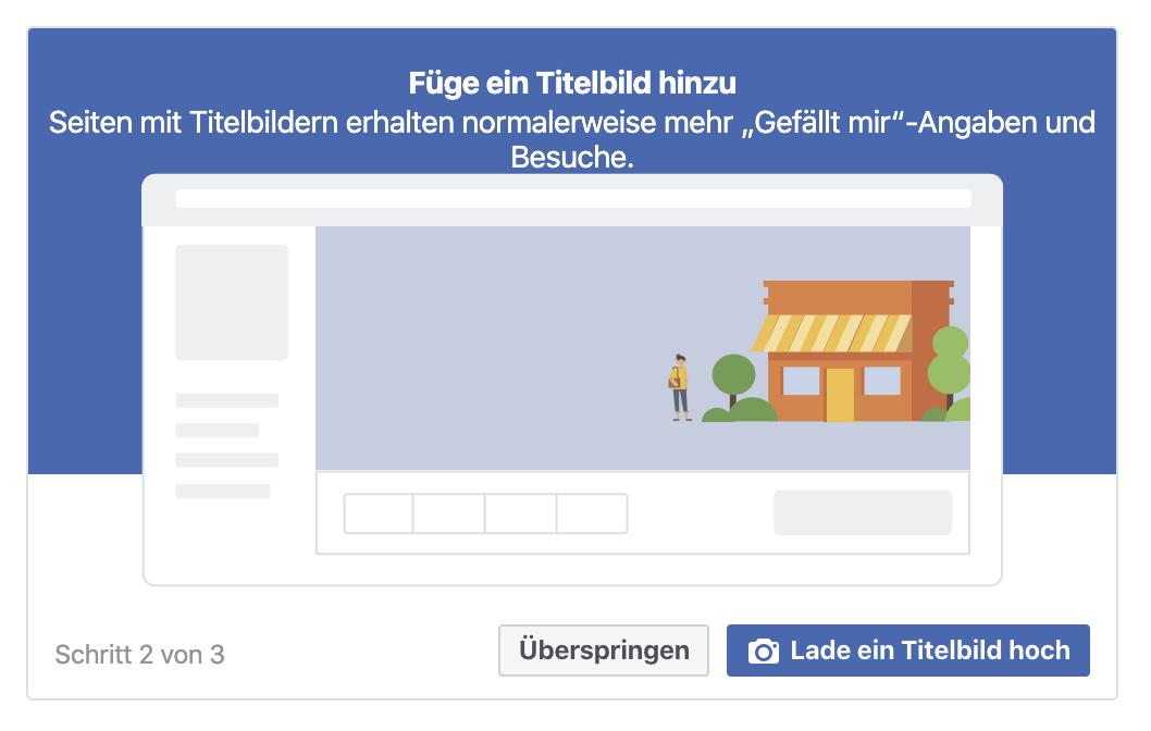 Facebookseite erstellen: Titelbild festlegen