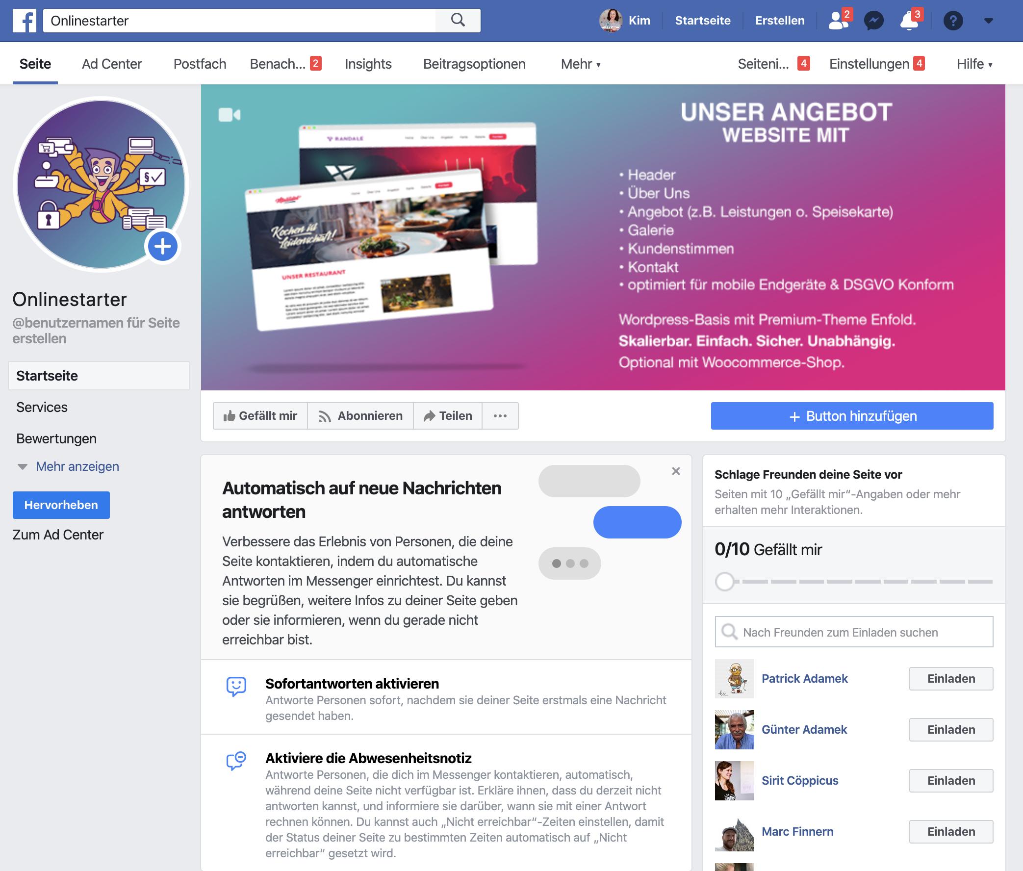 Facebookseite erstellen - so sieht sie aus.