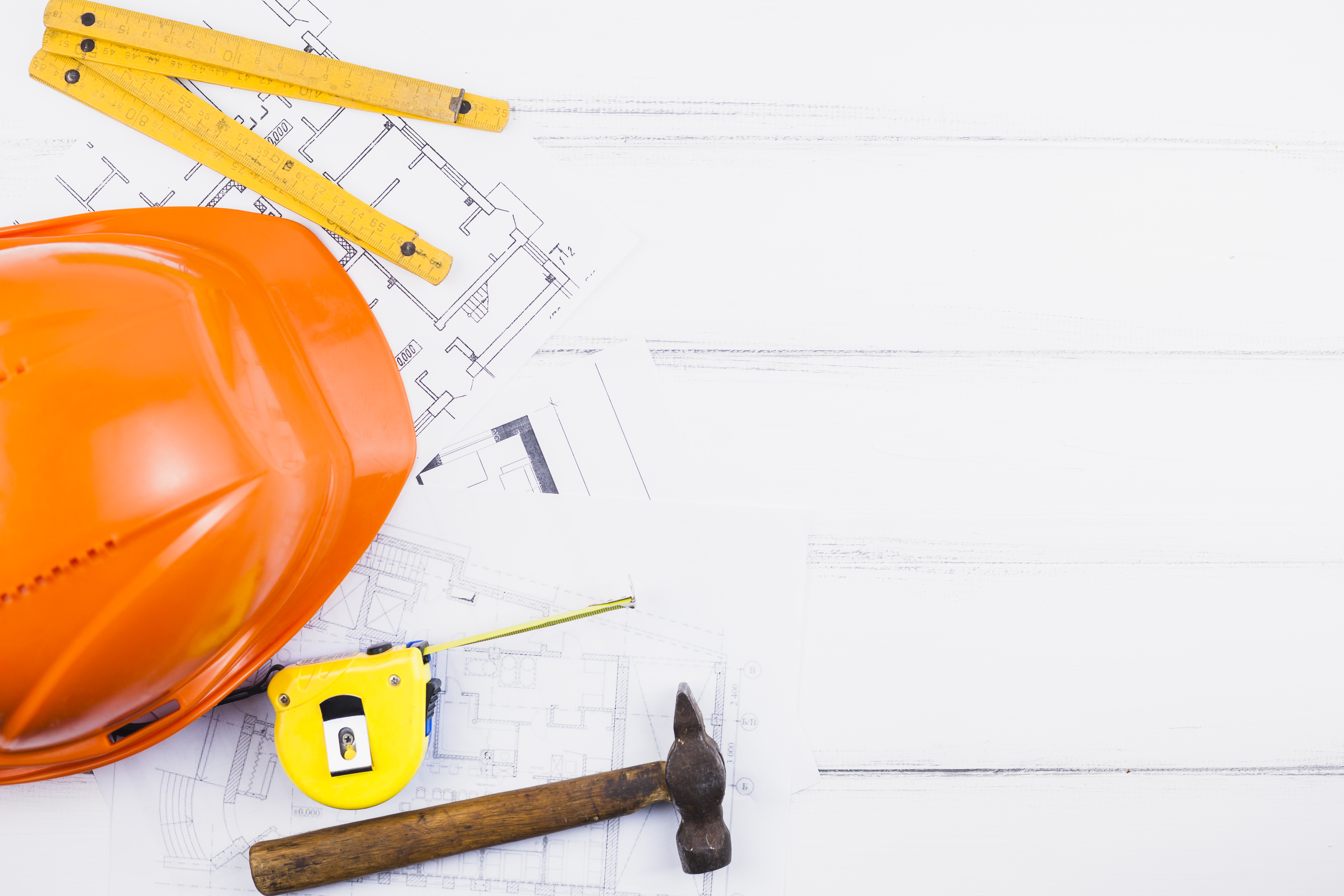 Various tools of a construction worker