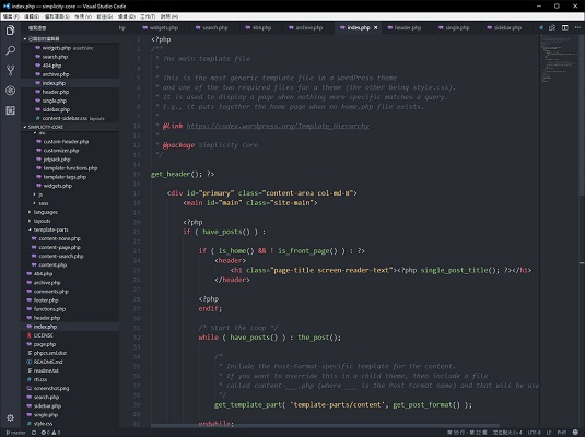 Coding on a Chromebook: Visual Studio editor window with code on it