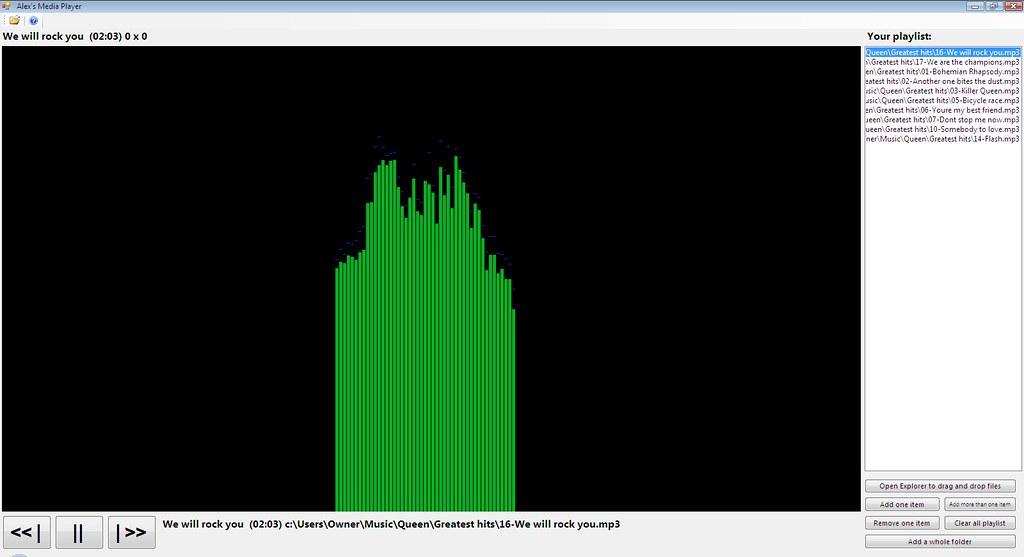 Media player made using visual basic .NET
