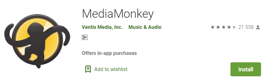 Google Play Store Media Monkey Banner