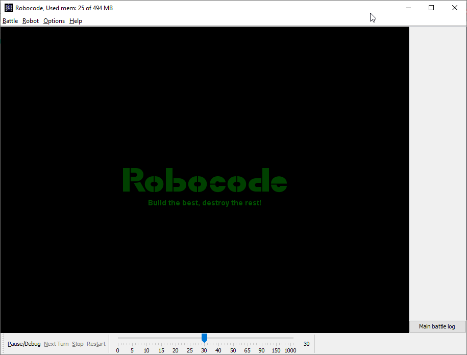 Learn how to code with Robocode - Home Screen