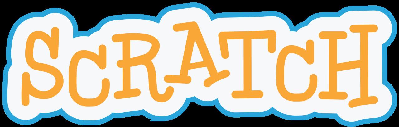 Scratch logo for kids programming languages