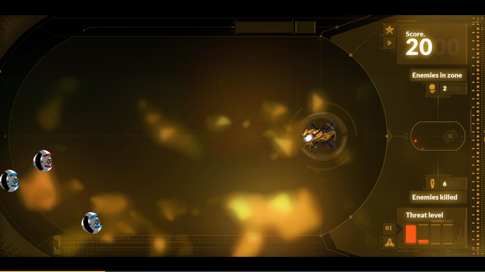 CodingGame starship loop shooting game