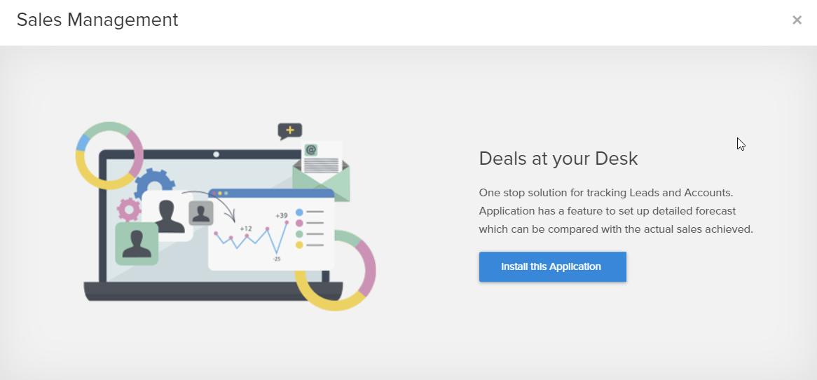 Zoho creator sales management application