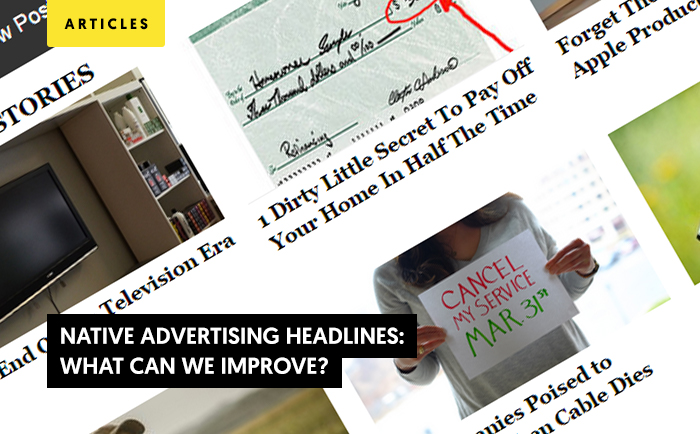 Native Advertising Headlines: What Can We Improve?