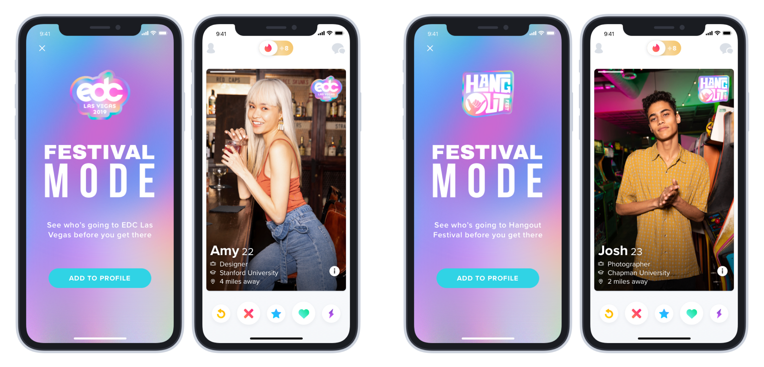 Tinder Introduces Festival Mode