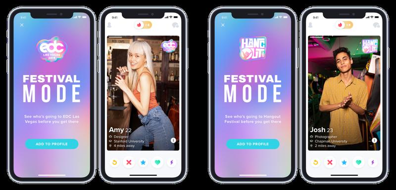 Tinder 推出音樂節模式(Festival Mode),幫你配對音樂節同好!
