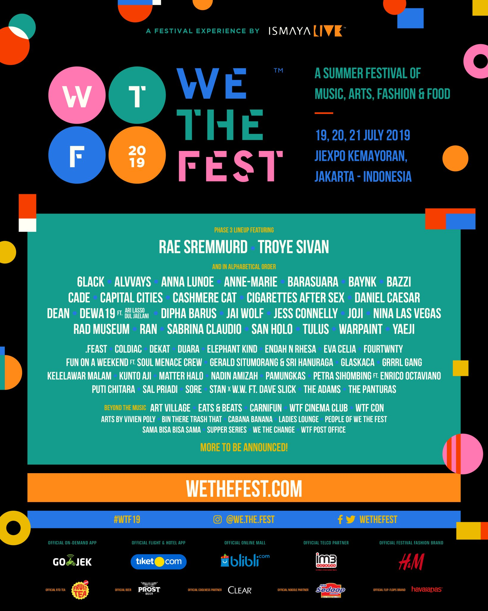 We The Fest 2019 Unveils Lineup Phase 3