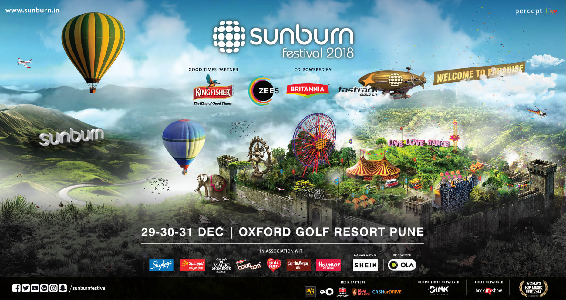 Sunburn Festival 2018 Returns to the Hills of Pune for NYE