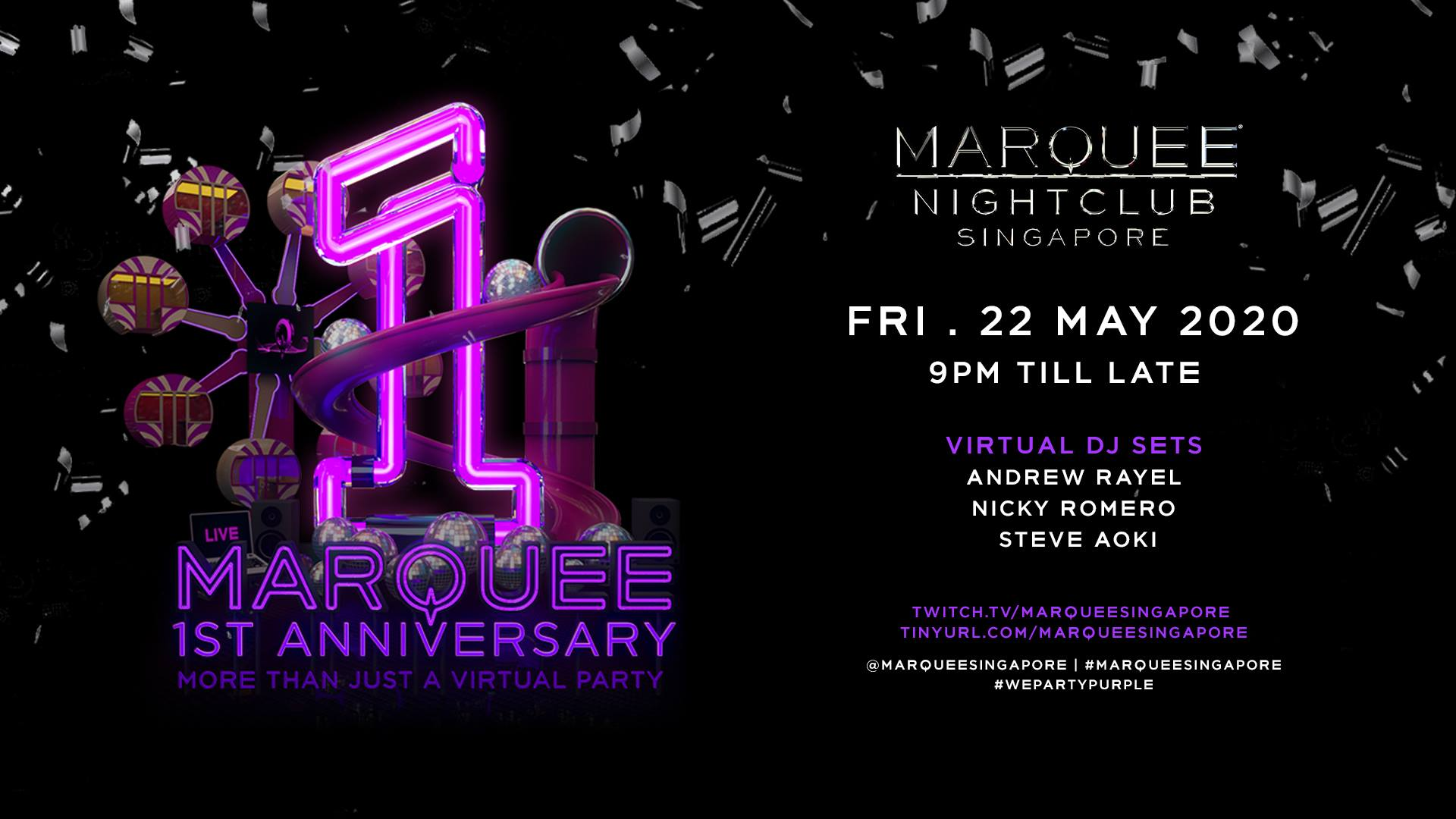 Celebrate Marquee Singapore's First Birthday at This Virtual Dance Party