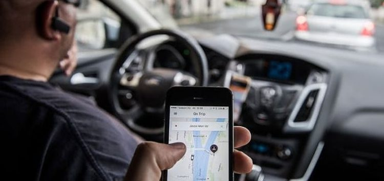 Booking ride-hailing service on an app