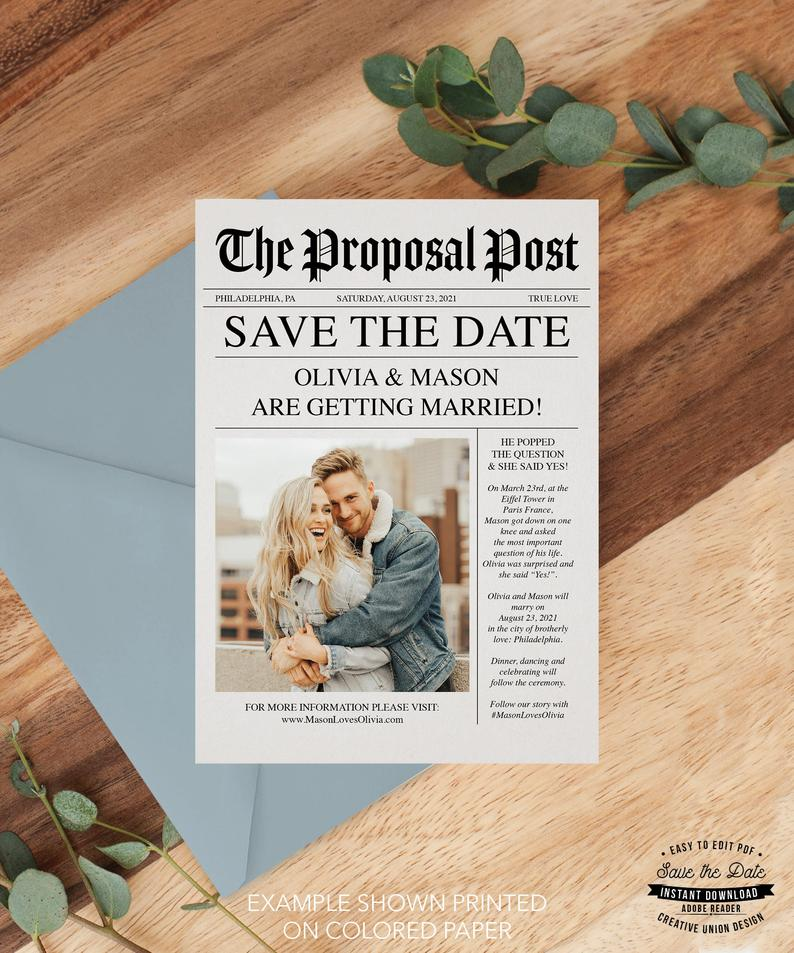 Unique and Unusual Save the Date Ideas