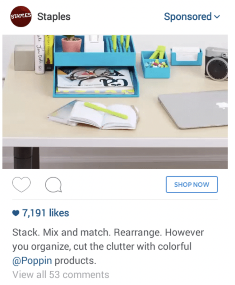 Staples Instagram Ad