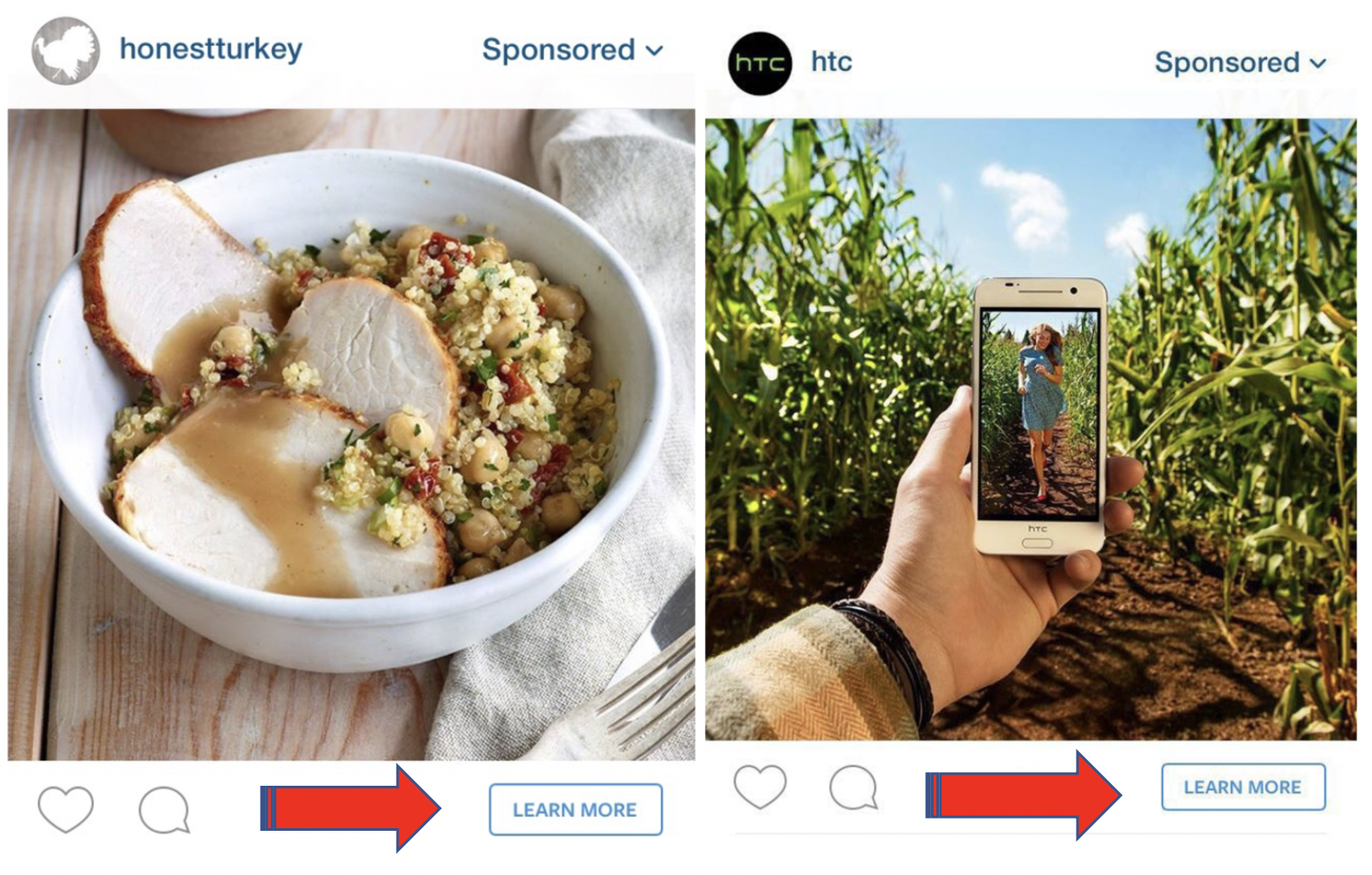 Instagram CTA on Ads - Learn More
