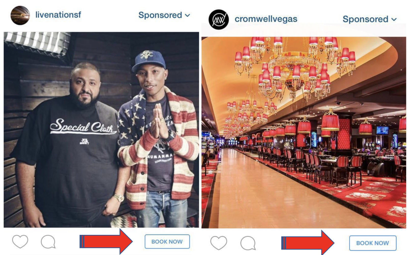 Instagram CTA on Ads – Book Now!