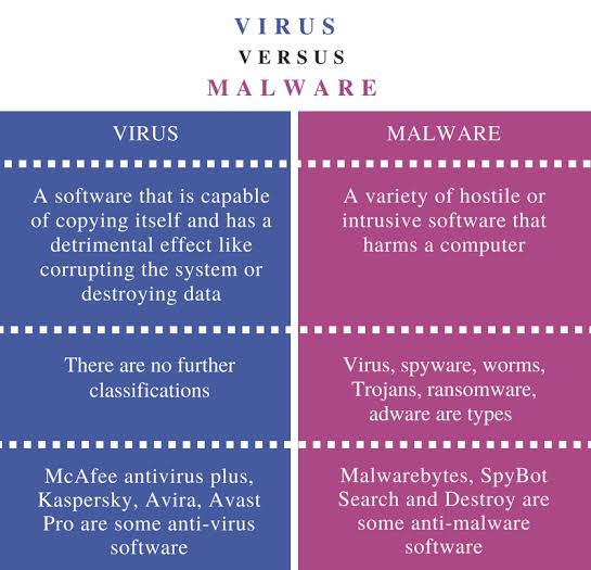 Understand the Difference Between Malware and Viruses 1