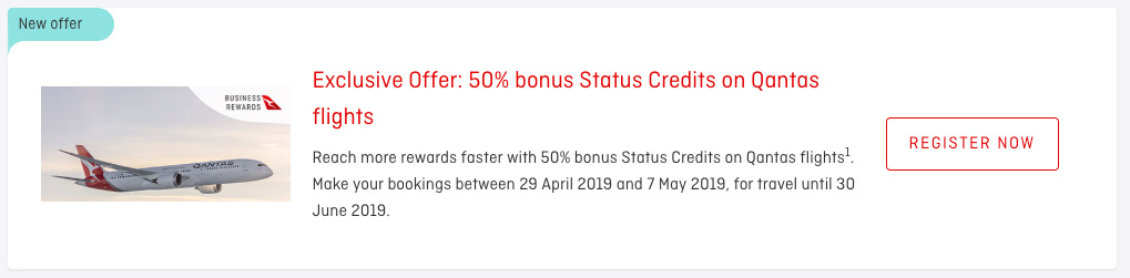 Earn 50% Bonus Qantas Status Credits 5