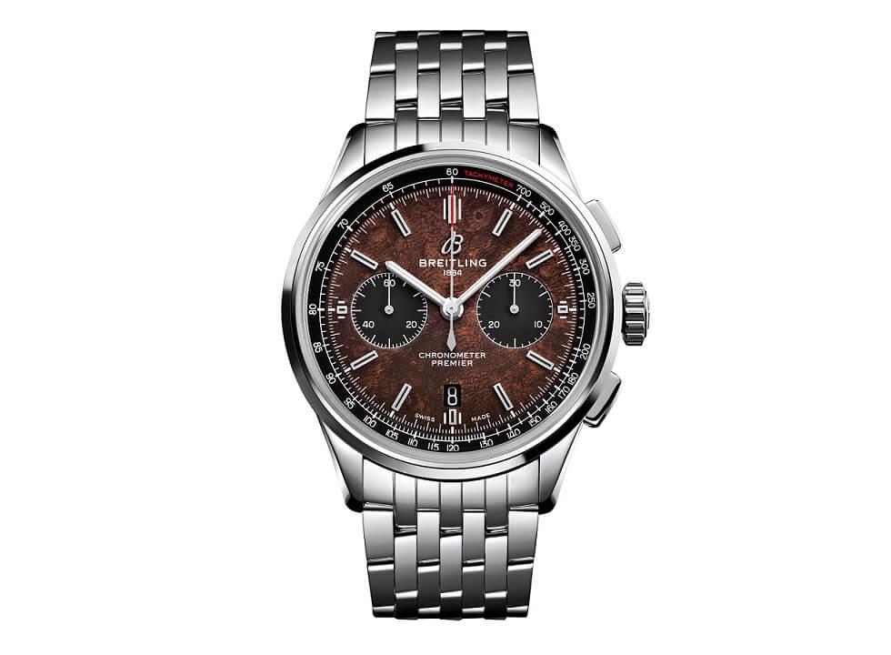 Breitling horloges: De roestvrij stalen versie van de nieuwe Breitling B01 Chronograph 42 Bentley Centenary Limited Edition