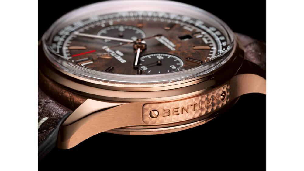 Breitling horloges: De Breitling B01 Chronograph 42 Bentley Centenary Limited Edition in 18k Rosé Goud met bruin