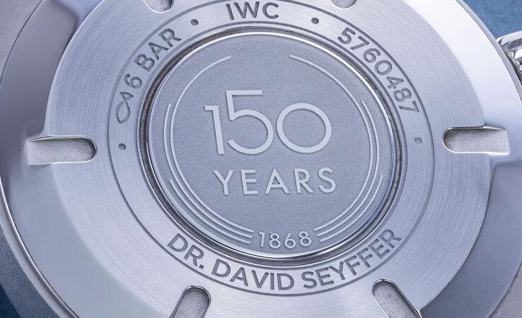 IWC horloges: Iedere medewerker een eigen IWC horloge ter ere van het 150 jarige jubileum